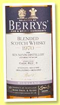 Ben Nevis 1970 43 Years Old, Berry's