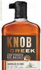 Knob Creek Cask Strength Rye Whiskey Barreled in 2009