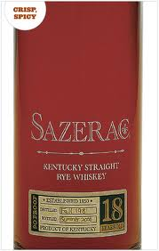 Sazerac Rye Whiskey 18 Years Old 2010
