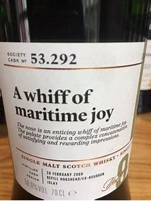 SMWS 53.292 A whiff of maritime joy 9 Years Old