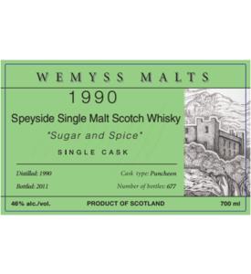 Wemyss - 1990 Sugar and Spice